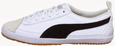 37.5_Adidasi Originali PUMA_pentru femei_cu piele_tenisi dama_alb_cutie foto