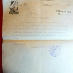 Adresa Antet Comunitatea Evreilor Bucuresti 1949 - Noua Maternitate-Sc.Surori - Hartie cu Antet
