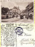 Sibiu, Hermannstadt- tramvai-stampila militara- rara, Circulata, Printata