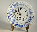 Ceas vechi de perete faianta pictata manual, inceput de secol XX- Olanda