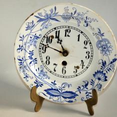 Ceas vechi de perete faianta pictata manual, inceput de secol XX- Olanda - Arta Ceramica
