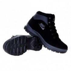 Ghete-bocanci Nike Mandara - Ghete barbati Nike, Marime: 36, 37, 38, 39, 40, 41, 42, 43, 44, Culoare: Negru, Piele sintetica