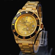 CEAS ROLEX SUBMARINER GOLD EDITION-SUPERB-PRET IMBATABIL-CALITATEA 1-POZE REALE - Ceas barbatesc Rolex, Elegant, Quartz, Placat cu aur, Data