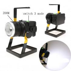 NOU! PROIECTOR DE PUTERE MARE 30WATT CU LED SMD T6, ZOOM, ACUMULATORI, FOTO/VIDEO/ - Lumini Studio foto