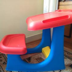 Masuta, pupitru, banca pentru desen, lectii, pictat, jucat - Masuta/scaun copii