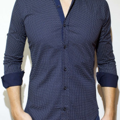 Camasa - camasa buline camasa slim camasa eleganta camasa barbat cod 74, L, XL, XXL, Maneca lunga, Din imagine