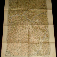 1939 Harta militara BISTRITA, judetul Bistrita-Nasaud, format 65x48 cm