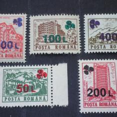 Romania 1998-LP1454-Hoteluri 1991 supratipar trifoi, nestampilate. - Timbre Romania