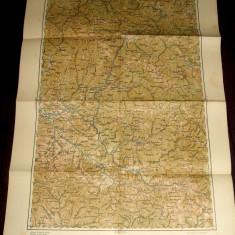 1939 Harta militara SIGHET, Sighetu Marmatiei, judet Maramures, format 65x48 cm