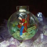 Sticluta veche de parfum, China, pictura pe interior
