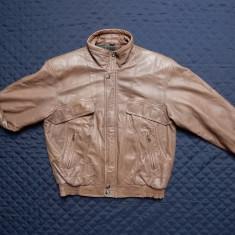 Geaca piele naturala Casual Club Genuine Leather; M, vezi dimensiuni; ca noua - Geaca barbati, Marime: M, Culoare: Din imagine