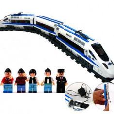 SET Trenulet Altele ELECTRIC DIN PIESE TIP LEGO 415 PIESE, SET DE CONSTRUCTIE, ACUMULATOR, Electrice, Plastic, Unisex