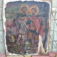 Icoana pictata pe lemn - scoala greaca - sec. 19 - Icoana pe lemn