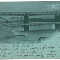 3519 - Litho, Bukowina, CZERNOWITZ, Bridge - old postcard - used - 1899, Circulata, Printata