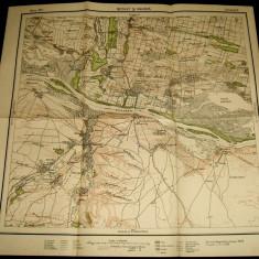 1939 Harta militara BECHET si RAHOVA, judetul Dolj, format 50x48 cm