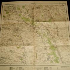 1939 Harta militara CARACAL, judetul Olt, format 48x48 cm