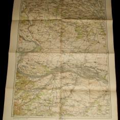 1930 Harta militara VIDIN, regiunea Timoc, format 65x48 cm