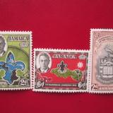 TIMBRE ANGLIA/COLONII JAMAICA SERIE NESTAMPILATA=MH