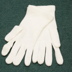 Manusi albe tricotate, noi - Manusi Dama, Marime: Marime universala