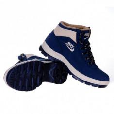 Ghete-Bocanci Nike Mandara - Ghete barbati Nike, Marime: 36, 37, 38, 39, 40, 41, 42, 43, 44, Culoare: Bleumarin, Piele sintetica