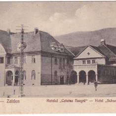 #1874- Romania, Zeiden, Codlea carte postala necirc: Hotelul