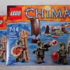 Lego Chima 70231 Tribul crocodililor Crocodile Tribe Pack 72piese 3 figurine NOU - LEGO Legends of Chima