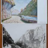 Cazane ; Orsova ; Portile de Fier ; 4 ilustrate interbelice, Necirculata, Ambele, Romania 1900 - 1950
