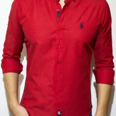 Camasa logo Polo - camasa slim fit camasa rosie camasa barbati cod 13, Marime: S, Culoare: Din imagine, Maneca lunga