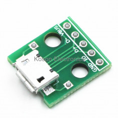 Micro USB PCB Type, Female 5-Pin