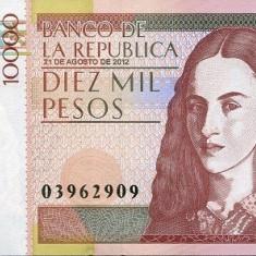 Columbia 10000 (10, 000) Pesos 21.08.2012 - P-453 UNC !!! - bancnota america