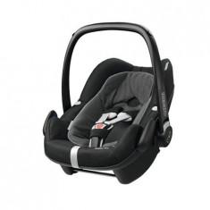Cos Auto Maxi-Cosi Pebble Plus I-Size Black Raven - Scaun auto copii Maxi Cosi, 0+ (0-13 kg), Isofix
