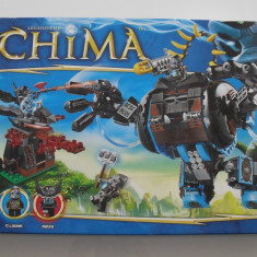 Lego Chima 70008 Berbecul-gorila a lui Gorzan's Gorilla Striker 505 piese 4 fig - LEGO Legends of Chima