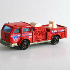 Macheta / jucarie masinuta metal - Pompier - Majorette(decor,colectie,7.8cm)#269, 1:100