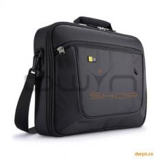 Geanta laptop 17.3' Case Logic, slim, buzunar interior 10.1', buzunar frontal, poliester, black 'ANC, Geanta de umar, Nailon, Negru