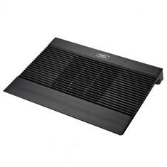 Stand notebook DeepCool 15.6'. - 1* fan 140mm, 1* USB, plastic & aluminiu, black, 'N8 MINI BLACK'' - Masa Laptop