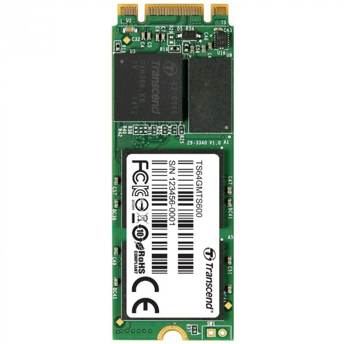 SSD Transcend MTS600 64GB M.2 2260 foto mare