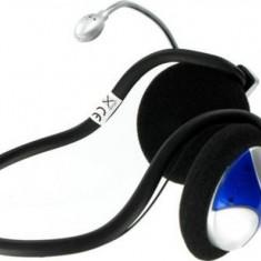 Casti 4World cu microfon occipital, control volum, fir bobinat - Casca PC