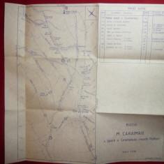 Harta Muntilor Caraiman- Creasta Picaturii si V.Seaca - Bucegi, scara 1:3700 - Harta Turistica