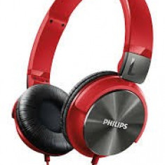 Căști Philips SHL3160RD/00, Casti On Ear, Cu fir, Mufa 3, 5mm, Active Noise Cancelling
