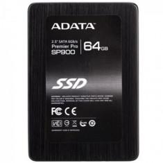 SSD A-data Premiere Pro (SATA 3) 2.5', 64GB MLC, Citire: 550 MB/s, Scriere: 505 MB/s, controller SandForce