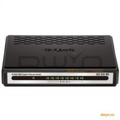 D-Link, Switch Desktop 24 porturi 10/100/1000, plastic, D-LinkGO