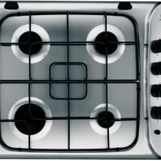 Plita incorporabila INDESIT PIM 640 AS IX, 4 arzatoare, gaz, aprindere electrica, inox, Argintiu, Numar arzatoare: 4