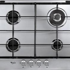 Plită încorporabilă Whirlpool AKR 362 IX, Argintiu, Numar arzatoare: 4, Gaz