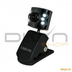 Camera Web LOGILINK 640x480 300K, 30 fps, 6 LEDs - Webcam