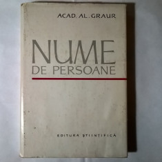 Al. Graur – Nume de persoane - Eseu