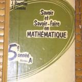 E. Boutriau J. Lievens SAVOIR ET SAVOIR-FAIRE EN MATHEMATIQUE 5e annee - Carte Matematica