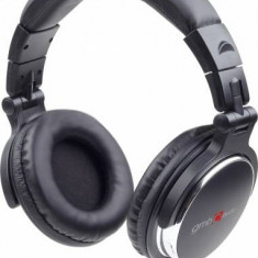 Gembird stereo headphones MONTREAL black, Casti On Ear, Cu fir, Mufa 3, 5mm, Active Noise Cancelling