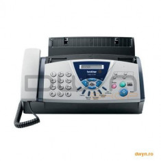 Brother Fax T104, Plain Paper Thermal Transfer Fax 14400 bps, Copier, Fax Telephone Switch Integrate