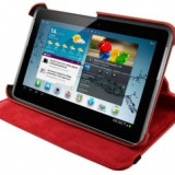 4World husa/suport protectie pt Galaxy Tab 2, Rotary, 7'', rosie