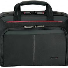 Targus geanta laptop Classic+Topload 13 - 14.1 in/33-35.8cm, negru si rosu, Geanta de umar, Nailon